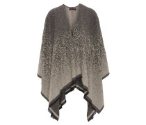 Poncho, Offene Front, Fransen