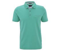 Poloshirt, Baumwoll-Piqué, Brusttasche, Grün