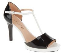 """Sandaletten """"Tedio"""", zweifarbiges Design, Lackleder, Weiß"""