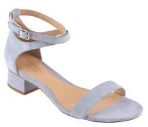 Sandaletten, Veloursleder, gekreuzte Riemchen
