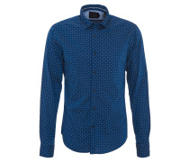 Freizeithemd, Slim Fit, Baumwolle, Blau