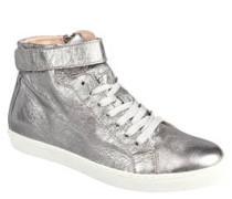 Sneaker, Leder, Metallic-Crash-Optik
