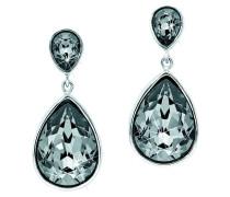 Ohrstecker mit Kristallen, Silber