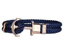 Ankerarmband PHREP IP Roségold Nylon Marineblau
