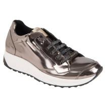 "Sneaker ""Running Canfora"", Metallic-Look, Glitzer, Grau"