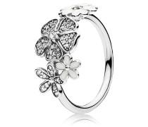 Ring, Blüten, Emaille, Zirkonia, 190984CZ
