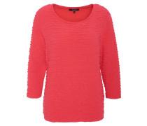 Shirt, Dreiviertelarm, Strukturmaterial, uni, Rot