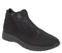 Sneaker, transparente Mesh-Lochung, Reißverschluss, uni
