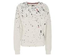 Sweatshirt, Farbklecks-Print, Rippenbündchen