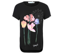 "T-Shirt ""Marian"", Viskose, Print, Inside-Out-Nähte, Schwarz"