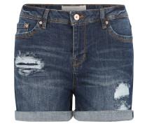 Shorts, niedrige Leibhöhe, Ausfransungen, Blau