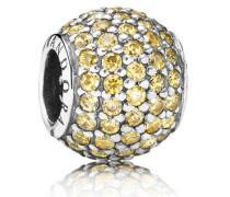 Charm Silber mit Zirkonia Gold 791051FCZ