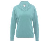 Pullover, Wolle, Kragen, für Damen, Blau