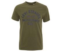 T-Shirt, Baumwolle, Rundhalsausschnitt, Marken-Print