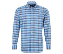 Freizeit-Hemd, Karo-Design, Button-Down-Kragen