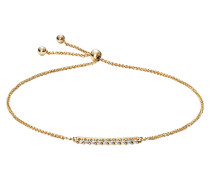 Armband mit Diamanten, Gelbgold 375