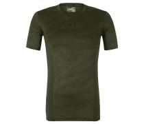 Trainingsshirt, Kompression, Mesh, für Herren, Oliv