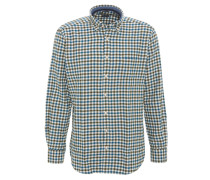 Freizeithemd, Button-Down-Kragen, Karo-Muster, Langarm