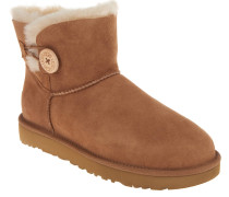 "Boots ""Mini Bailey Button"", Veloursleder, Lammfellfutter, Beige"