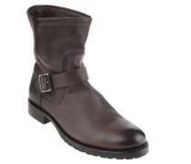 """Boots """"Natalie Short Engineer"""", Glattleder, V-Einkerbung, Braun"""