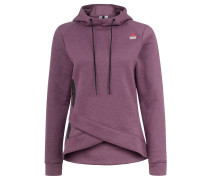 Sweatshirt, Kapuze, Wickel-Optik, für Damen, Lila