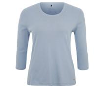 Shirt, 3/4-Ärmel, Nieten-Dekor, Baumwolle, Blau