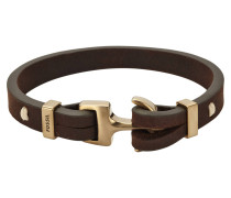 Armband Vintage Casual, Leder, braun, JF01863710