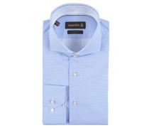 Business-Hemd, Punkt-Muster, Haifisch-Kragen, Blau