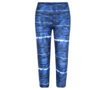 Trainings-Leggins, Capri-Länge, Muster-Mix, für Damen, Blau