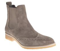 Chelsea Boots, Leder, Lyralochung, Grau