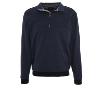 Sweatshirt, meliert, Kontrastbund, Blau