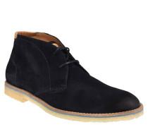 Chukka Boots, Veloursleder, kontrastfarbene Zwischensohle, Blau