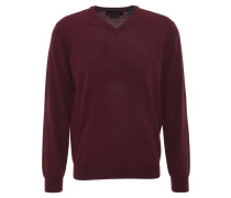 Pullover, V-Ausschnitt, Wolle, Rot