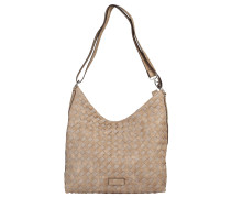 "Handtasche ""Another Day"", Flecht-Muster, Beige"