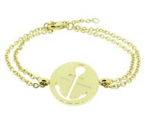 Anker Armband 108035 EdelstahlAnker ausgestanzt rund gold