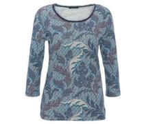 Shirt, 3/4-Arm, Rollsaum, Ornament-Muster