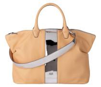 Handtasche Icon Bag, Umhängeriemen, Leder, Beige