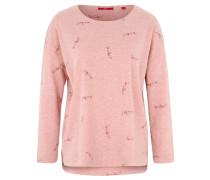 Sweatshirt, Glitzer-Print, Rundhalsausschnitt