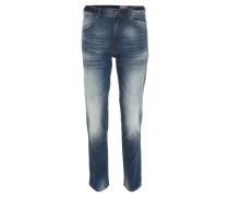 """Jeans """"Born ready"""", Regular Fit, helle Waschung, Used Look, Blau"""