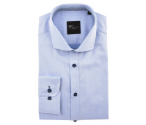 "Businesshemd ""Black Label"", Slim Fit, Haifischkragen, Blau"