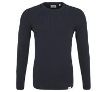 Pullover, Strickmuster, reine Baumwolle, Blau