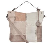 Handtasche, Nieten, Patchwork-Look, Weiß