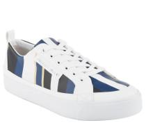Sneaker, Streifen-Look, Plateau-Sohle, Weiß