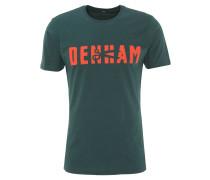 T-Shirt, Baumwolle, Rundhals, Logo-Print, Grün