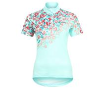 """Fahrradshirt """"Loveline"""", Blumenprint, Stecktaschen, für Damen, Türkis"""