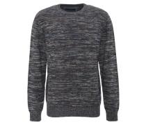 Pullover, Rundhals, Bündchen, reine Baumwolle, Blau