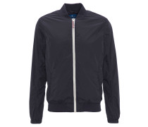 Blouson-Jacke, Kontrast-Reißverschluss, geraffter Ärmelbund, Blau