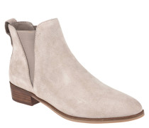 "Chelsea-Boots ""Nickell"", Leder, spitze Form, Taupe"