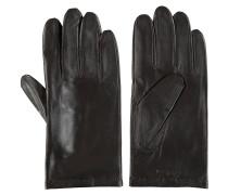 Handschuhe, Leder, Wolle