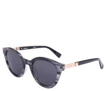 Sonnenbrille, Muster, verspiegelte Gläser